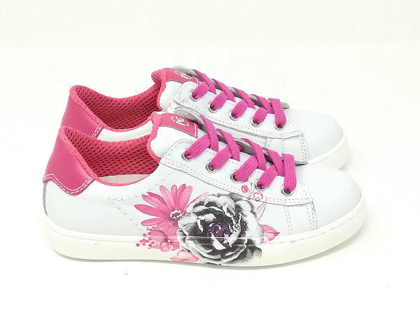 Sneaker Pelle Fiori - NERO GIARDINI Kids & Teens