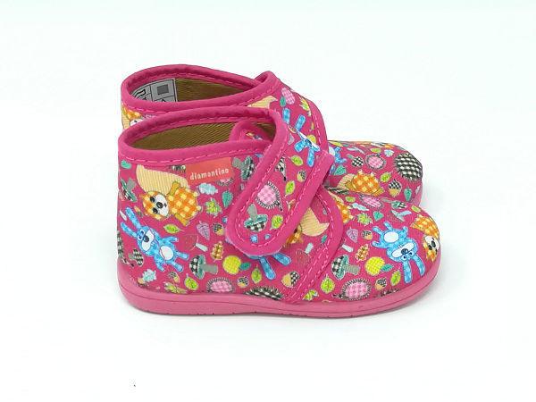 Pantofola Strappo Animali - DIAMANTINO