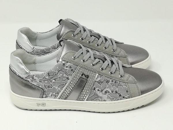 Sneaker Laminato/Pizzo - NeroGiardini
