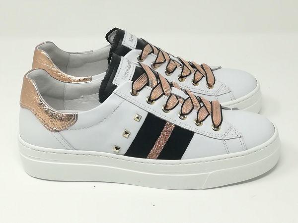 Sneaker Rock Bianco/Rosa - NeroGiardini
