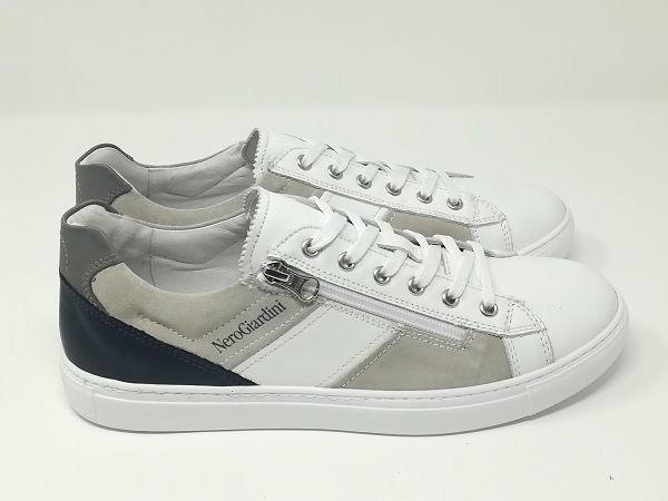 Sneaker Pelle Lacci/Cerniera - NeroGiardini