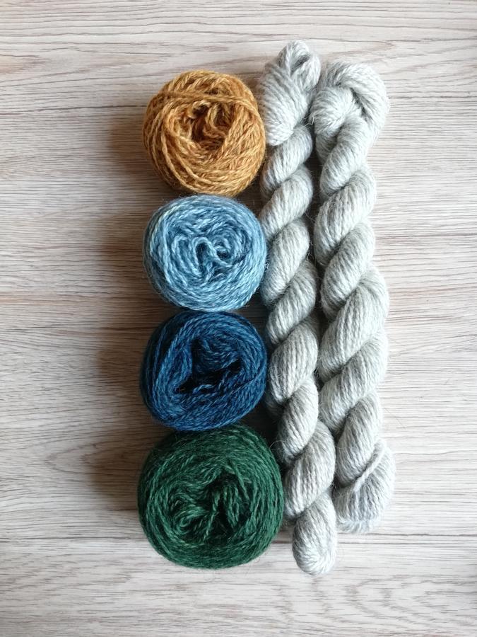 Gotland-BFL wool , 4 ply, lana 100%, kit cappello fair isle  Shetland Wool week