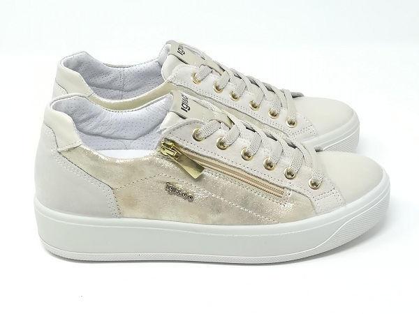 Sneaker Ava Nappa Crema- Igi&Co