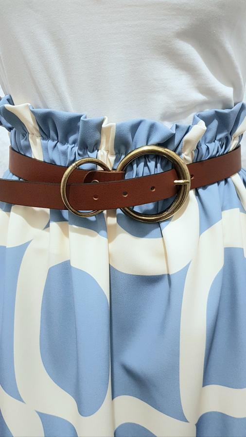 Cintura in vera pelle doppia fibbia