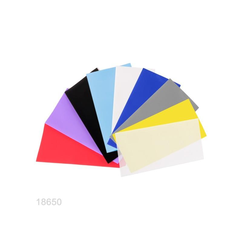 Wrap colorate per batterie 18650 - 18,12 x 70mm - 10pzz