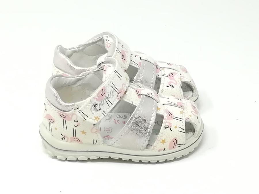 Sandalo Baby Chiuso Bianco/Rosa- PRIMIGI
