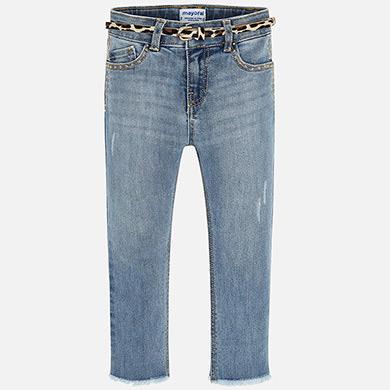 Pantalone lungo jeans fantasia Chiaro - 4 ANNI