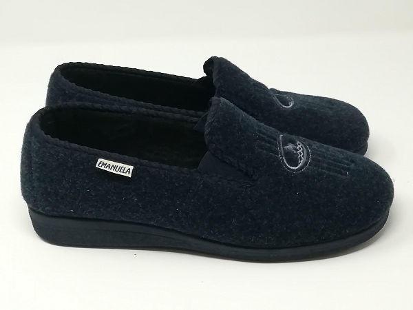 Pantofola Panno Blu - EMANUELA