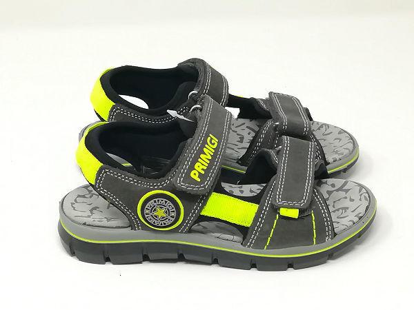 Sandalo Pelle Strappi Grigio - PRIMIGI