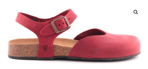 Sandalo Chiuso Pelle Rosso - BIOLINE