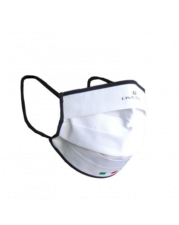 Mascherina Adulto Protettiva Lavabile Blu Oceano In 100% Cotone E Tessuto Tnt Antimicrobico - Mod. Classic Taglia S