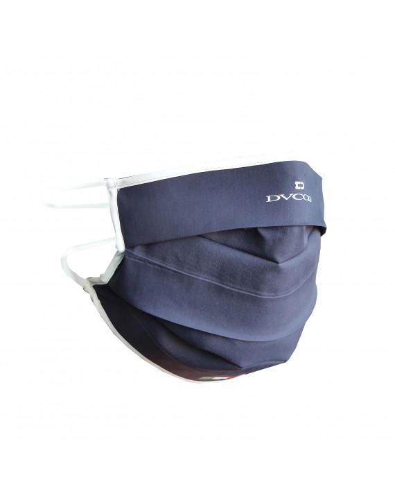 Mascherina Adulto Protettiva Lavabile Blu Oceano In 100% Cotone E Tessuto Tnt Antimicrobico - Mod. Classic Taglia M