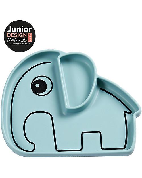 piatto elefante in silicone alimentare con ventosa