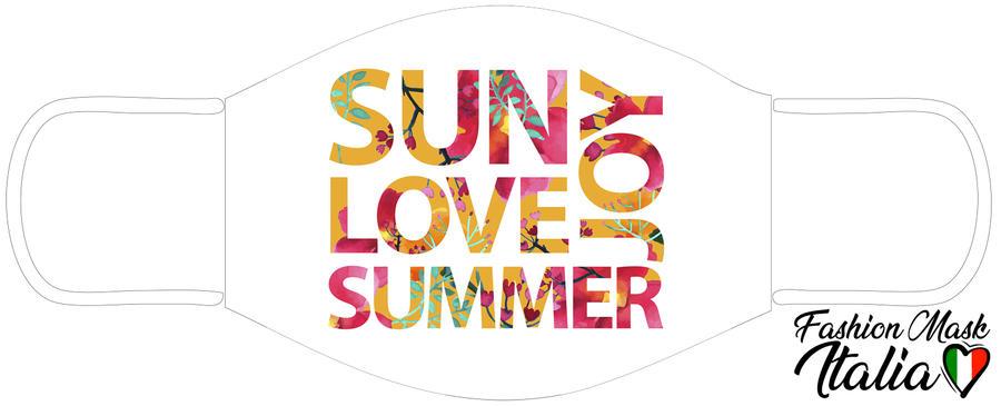 Fashion Mask Summer Joy 3 Strati 100% Cotone con Filtro intercambiabile in TNT (2 Mascherine+20 Filtri)