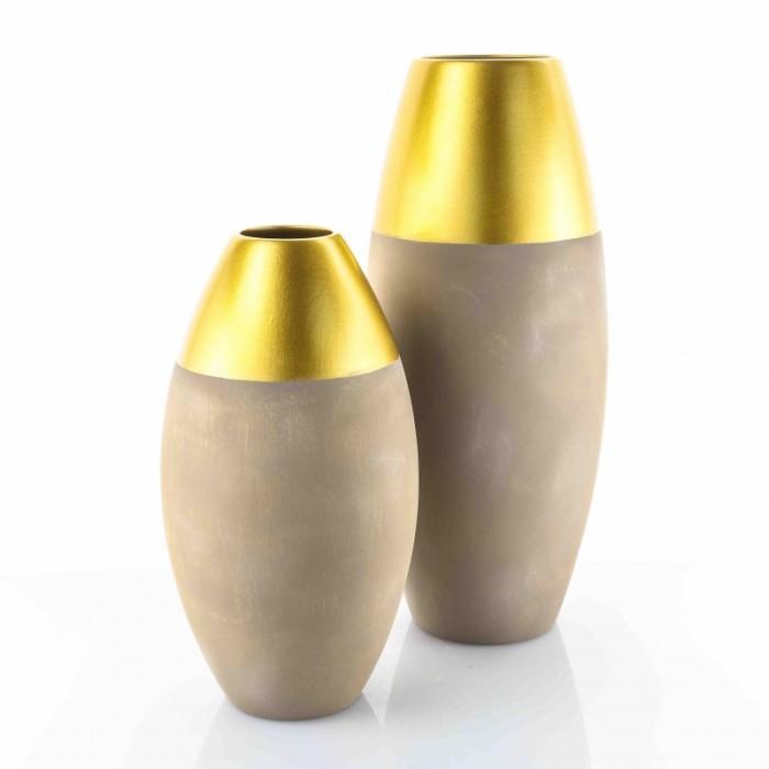 Vaso Sfero Grey Gold