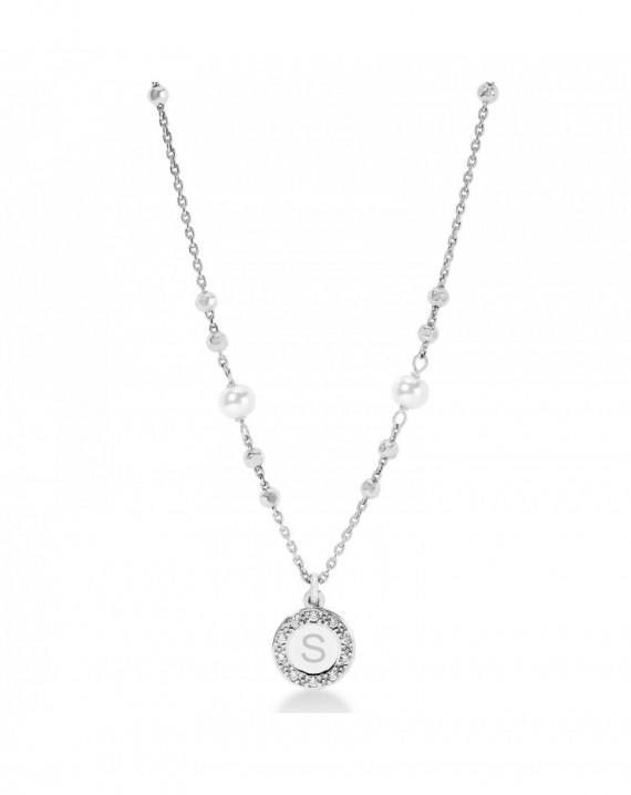 Collana Dvccio Con Perle in Argento