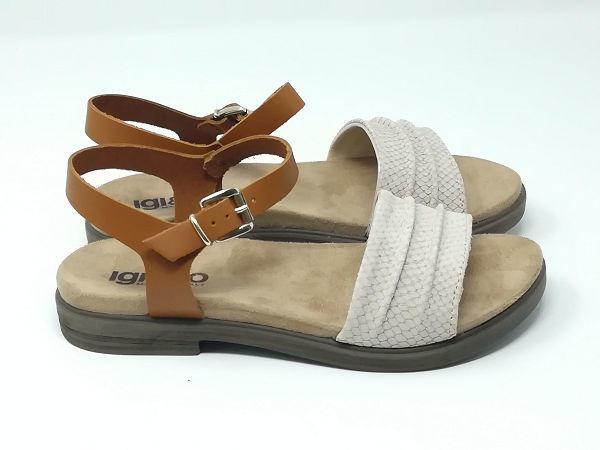 Sandalo Nabuk/Pitone Fibbia - Igi&Co