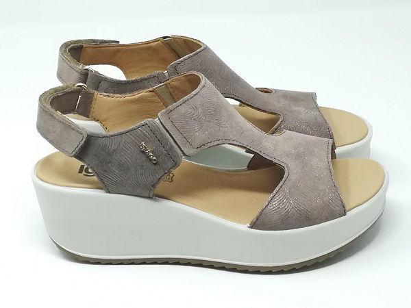 Sandalo Zeppa Scam/Lurex - Igi&Co
