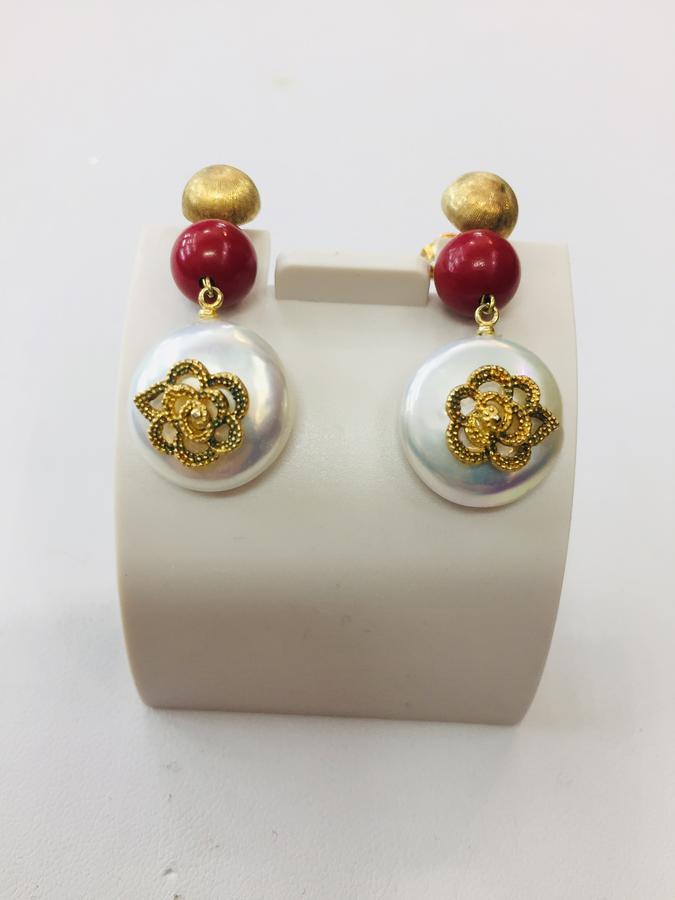 Collana Argento e Corallo Rosso