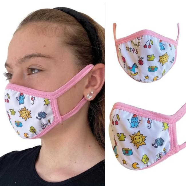 Fabric face mask for kids