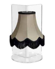 Lampada da Tavolo Paola di Emporium in PMMA Trasparente e Tessuto con Frange, Varie Finiture – Offerta di Mondo Luce 24
