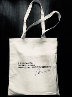 Shopper Black con autografo stampato / Shopper White - Il mio gioco preferito/Shopper white stampa Geko