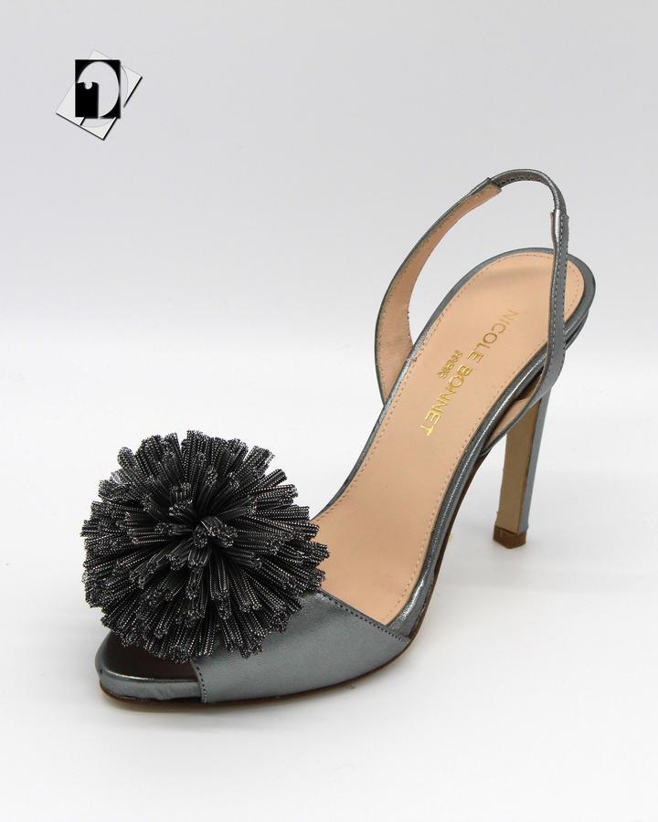Nicole Bonnet 165 sandalo laminato pon pon