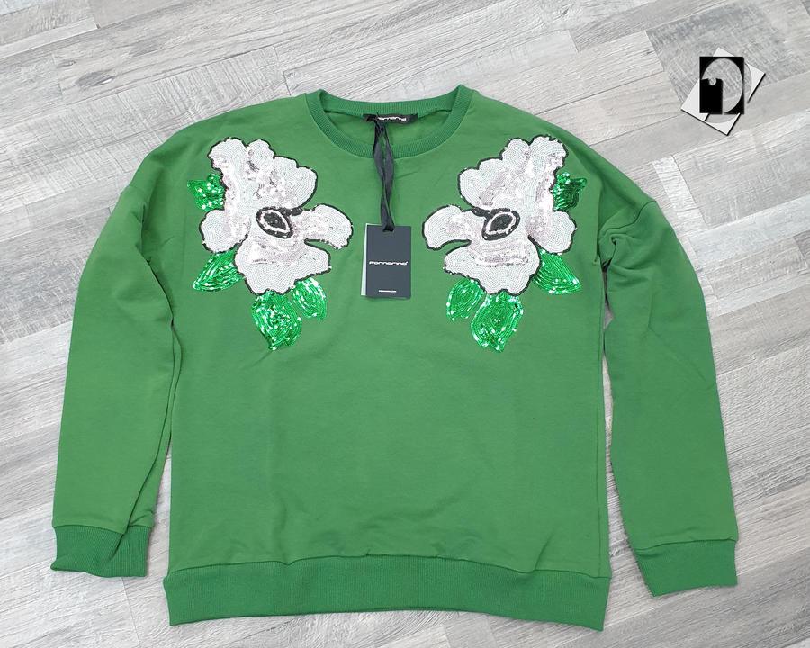 Fornarina BI186865JG2500 felpa donna Tao-Black Sweater/Tao-Loden Sweater