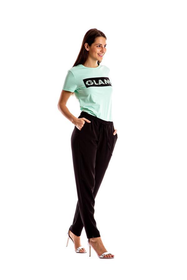 MIMi' MUA' FIRENZE t-shirt scritta glam