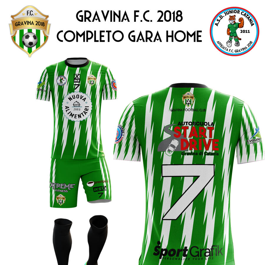Home Kit Gravina Football Club