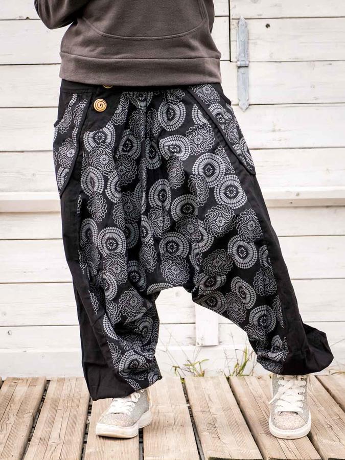 Aladdin woman trousers Maya - black gray