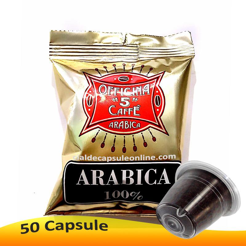 🔔Capsule aggiuntive Arabica 100% Officina 5 per Nespresso