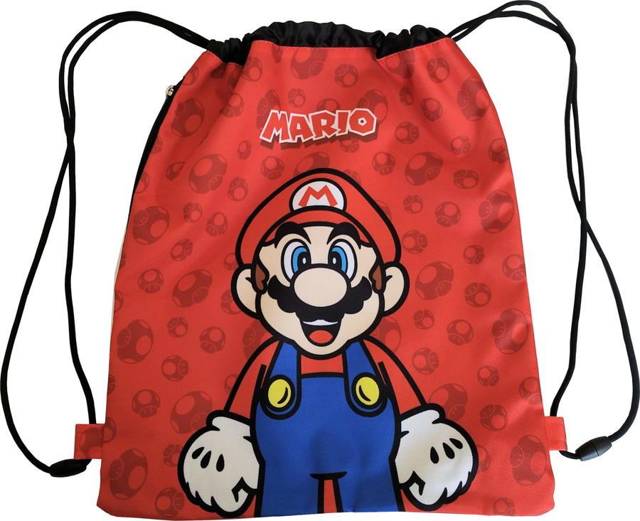Sacca  Zaino Coulisse Super Mario Bros in 3 variati colore 62876
