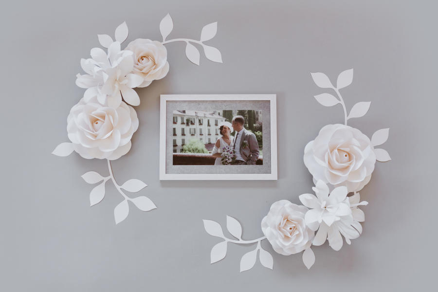 Paper Flowers Wall Collection - Set Carezza