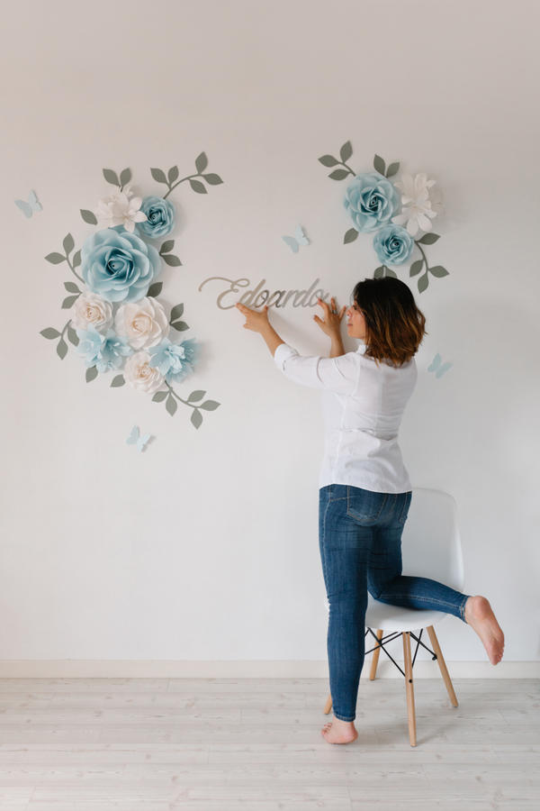 Paper Flowers Wall Collection - Set Incontro