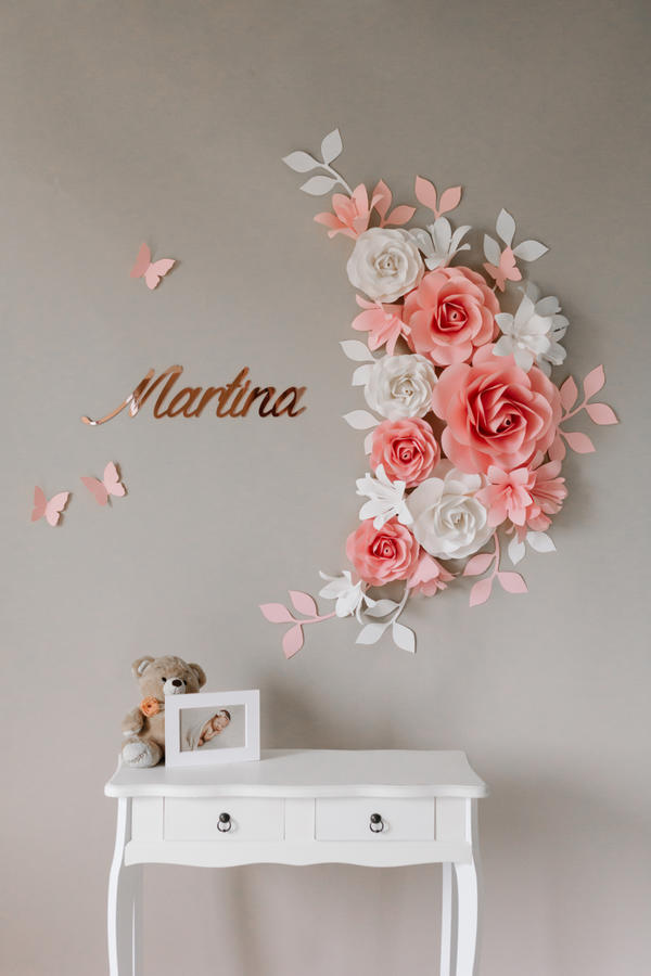 Paper Flowers Wall Collection - Set Luna