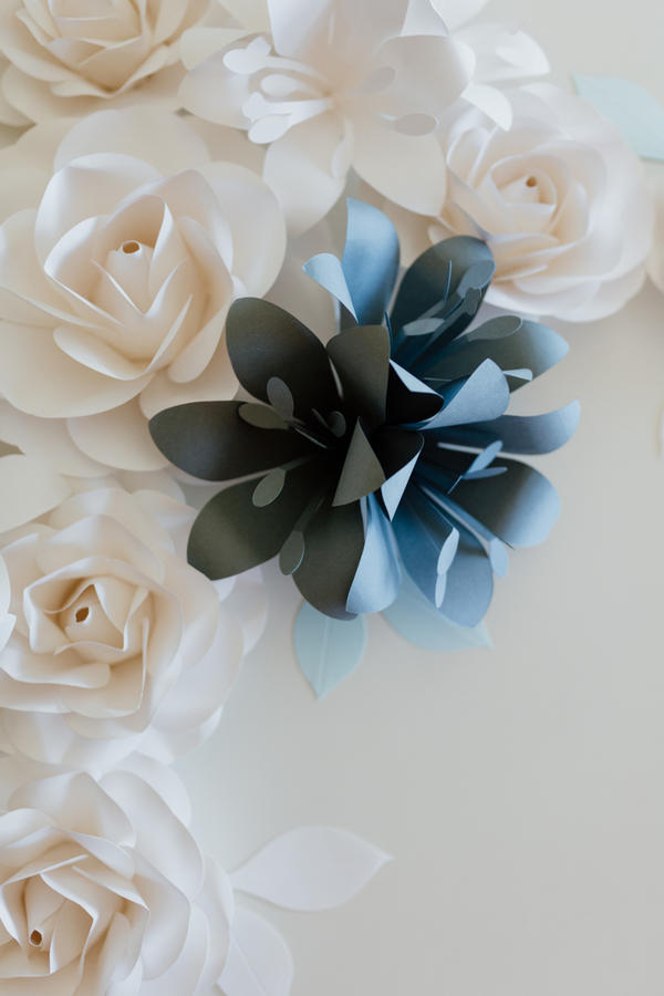 Paper Flowers Wall Collection - Set Crocefisso