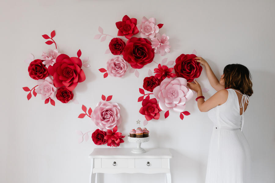 Paper Flowers Wall Collection - Set Compleanno