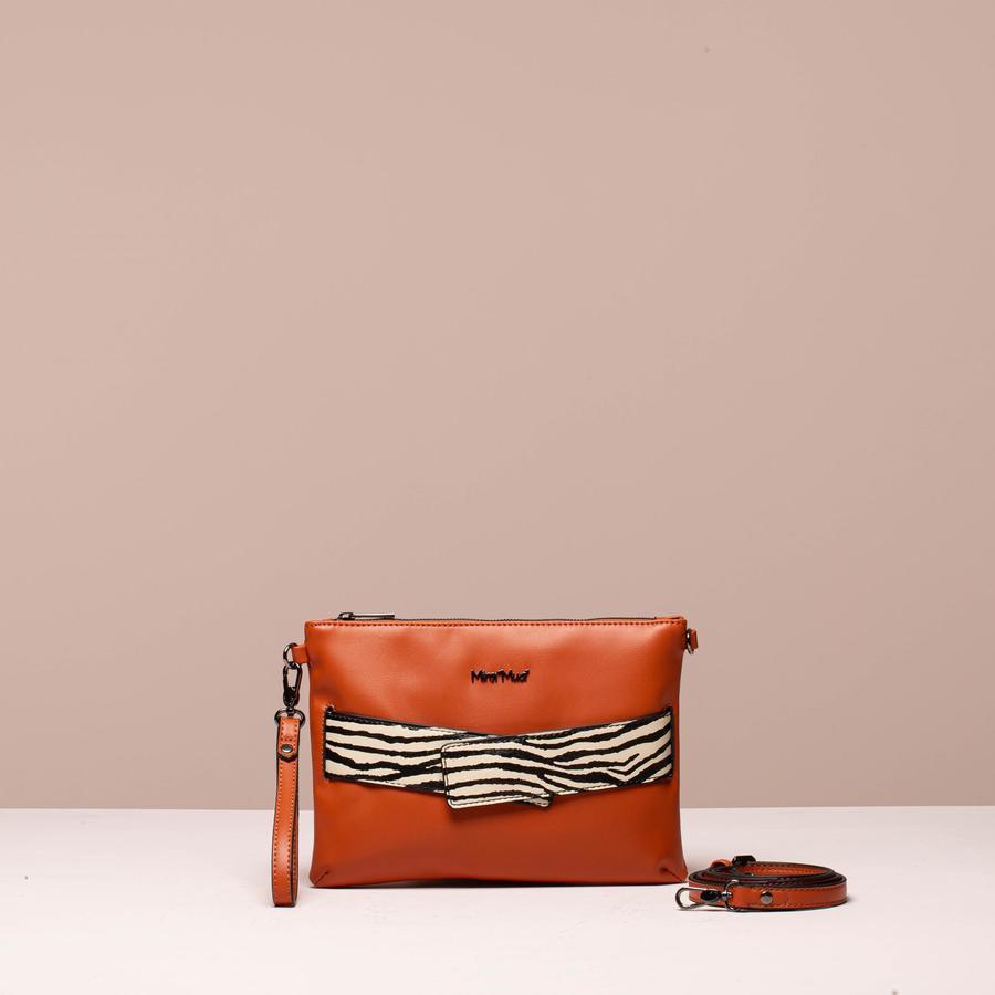 MIMi' MUA' FIRENZE borsa a busta con cinturino zebrato incrociato