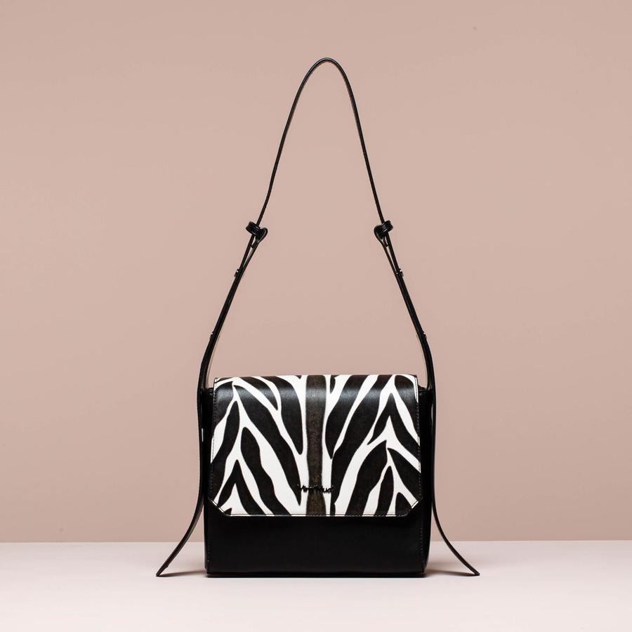 MIMi' MUA' FIRENZE borsa a tracolla con patta zebrata
