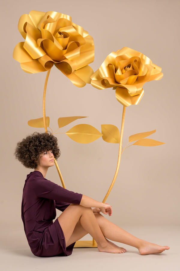 Paper Flowers Self-standing Collection - Rose in carta 70/50 cm autoportanti