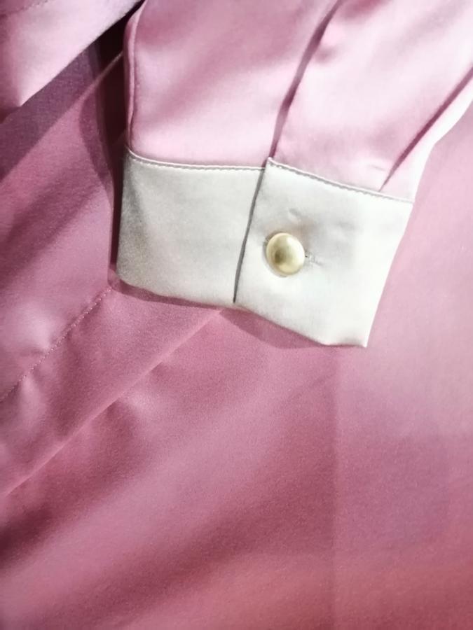KARTIKA camicia in raso bicolore