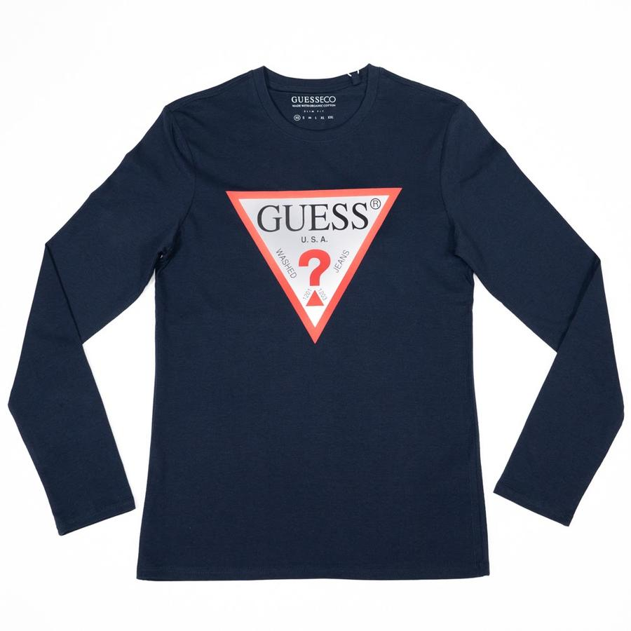 T-SHIRT GUESS MAN. LUNGA LOGO TRIANGOLO  - Colori disponibili: 2