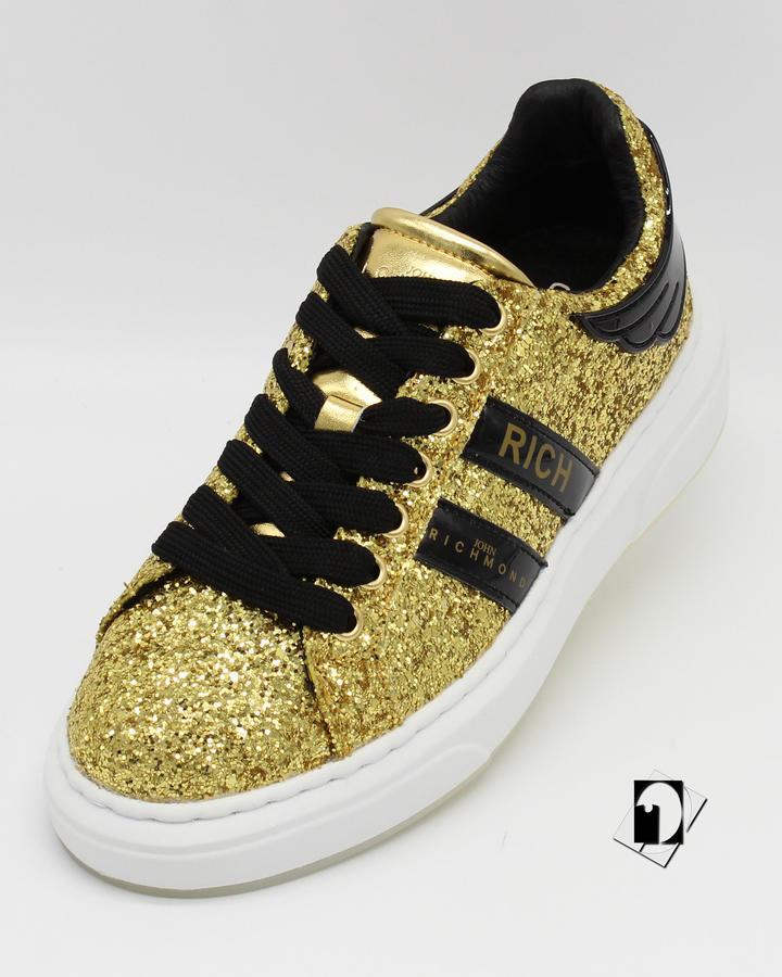 John Richmond art. 3013/CP women's shoes glitter argento o oro