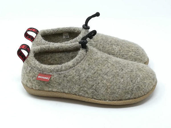 Pantofola Lana Cotta Beige - BIOLINE