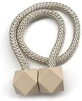 2 Fermatenda Ferma Tenda Raccogli Tende Calamita Magnetico Corda Magnetica Vari Colori 45 cm