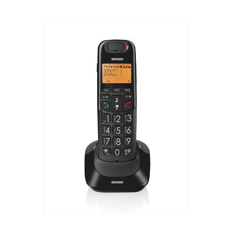BRONDI Bravo Bright Telefono Cordless con Segreteria Colore Blu / Bianco