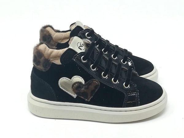 Sneaker Scamosciata/Cuori Animalie - NERO GIARDINI Kids & Teens