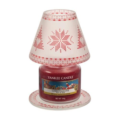 Linea Red Nordic Frosted Glass Yankee Candle