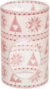 Yankee Candle - Linea Red Nordic Frosted Glass